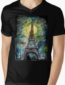 Paris... only light destroys darkness Mens V-Neck T-Shirt