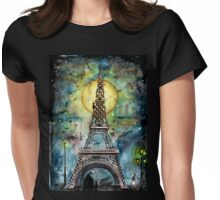 Paris... only light destroys darkness Womens Fitted T-Shirt
