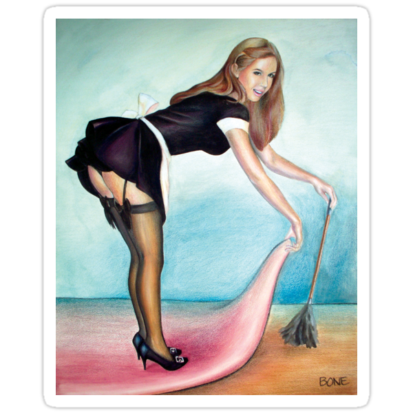 French Maid Pinup Girl  by Jessica Bone