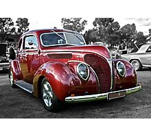 Red 1938 Ford Coupe Photographic Print