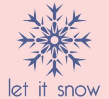 Let It Snow  One Piece - Long Sleeve