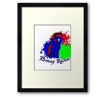 brony rictor Framed Print