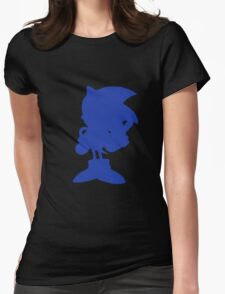 Classic Sonic Silhouette Womens Fitted T-Shirt