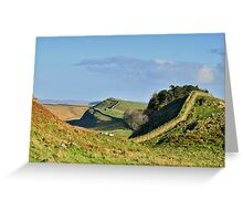 Hadrian's Wall on Housesteads Crag Greeting Card
