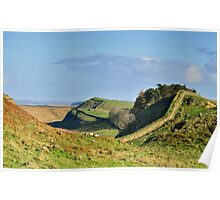 Hadrian's Wall on Housesteads Crag Poster