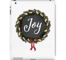 Joy Christmas Wreath iPad Case/Skin
