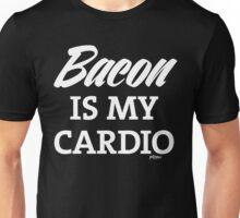 Bacon is my Cardio, white type Unisex T-Shirt