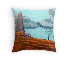366 - THE OBELISK - DAVE EDWARDS - COLOURED PENCILS - 2012 Throw Pillow
