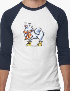 Samoyed / American Eskimo Dog Celebrate Winter Men's Baseball ¾ T-Shirt
