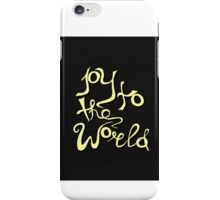 Joy To The World - handdrawn lettering. Vector art. Great design element for congratulation cards, banners and flyers. Xmas design. iPhone Case/Skin