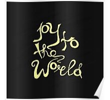 Joy To The World - handdrawn lettering. Vector art. Great design element for congratulation cards, banners and flyers. Xmas design. Poster