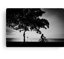 cycling monochrome Canvas Print