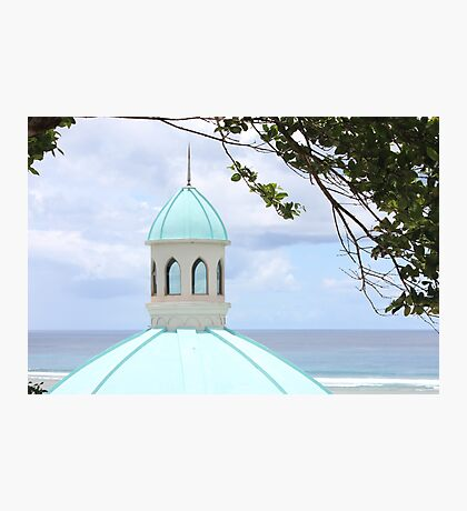 Chapel tower by the beach Photographic Print