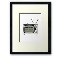 Flight of the Conchords - Television design Framed Print