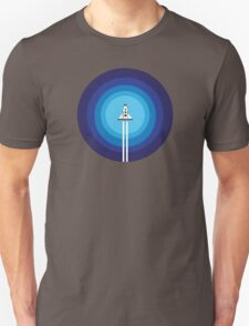 Rocket ship flies past the Blue Planet T-Shirt