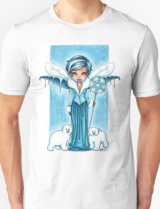 The Snow Fairy & Her Polar Bear Friends Unisex T-Shirt