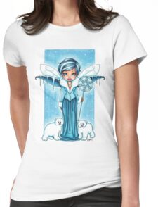 The Snow Fairy & Her Polar Bear Friends Womens Fitted T-Shirt