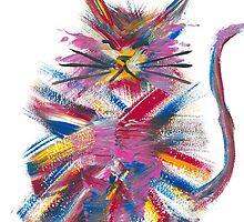 Colour Explosion Cat by Cat-Hi