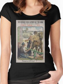 The Equitable Trust Company of New York Emprunt National 5 920 Souscrivez! Women's Fitted Scoop T-Shirt