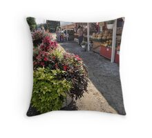 Roadside produce stand Throw Pillow
