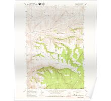 USGS Topo Map Washington State WA Cahill Mtn 240295 1976 24000 Poster