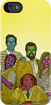 It's Always Sunny in Philadelphia Cast Culture Cloth Zinc Collection iPhone Case by CultureCloth