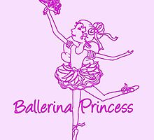 Ballerina Princess ballet dancer by Sarah Trett