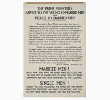 The prime ministers advice to the young unmarried men and pledge to married men 323 Baby Tee