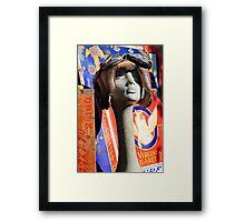 Vintage Advertising Head and Boxing Head Guard  Framed Print