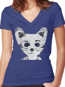 Silver Fox Women's Fitted V-Neck T-Shirt
