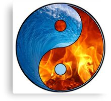 Ying Yang - Water and Fire Canvas Print