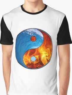 Ying Yang - Water and Fire Graphic T-Shirt