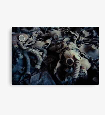 Attended by Shadows Canvas Print