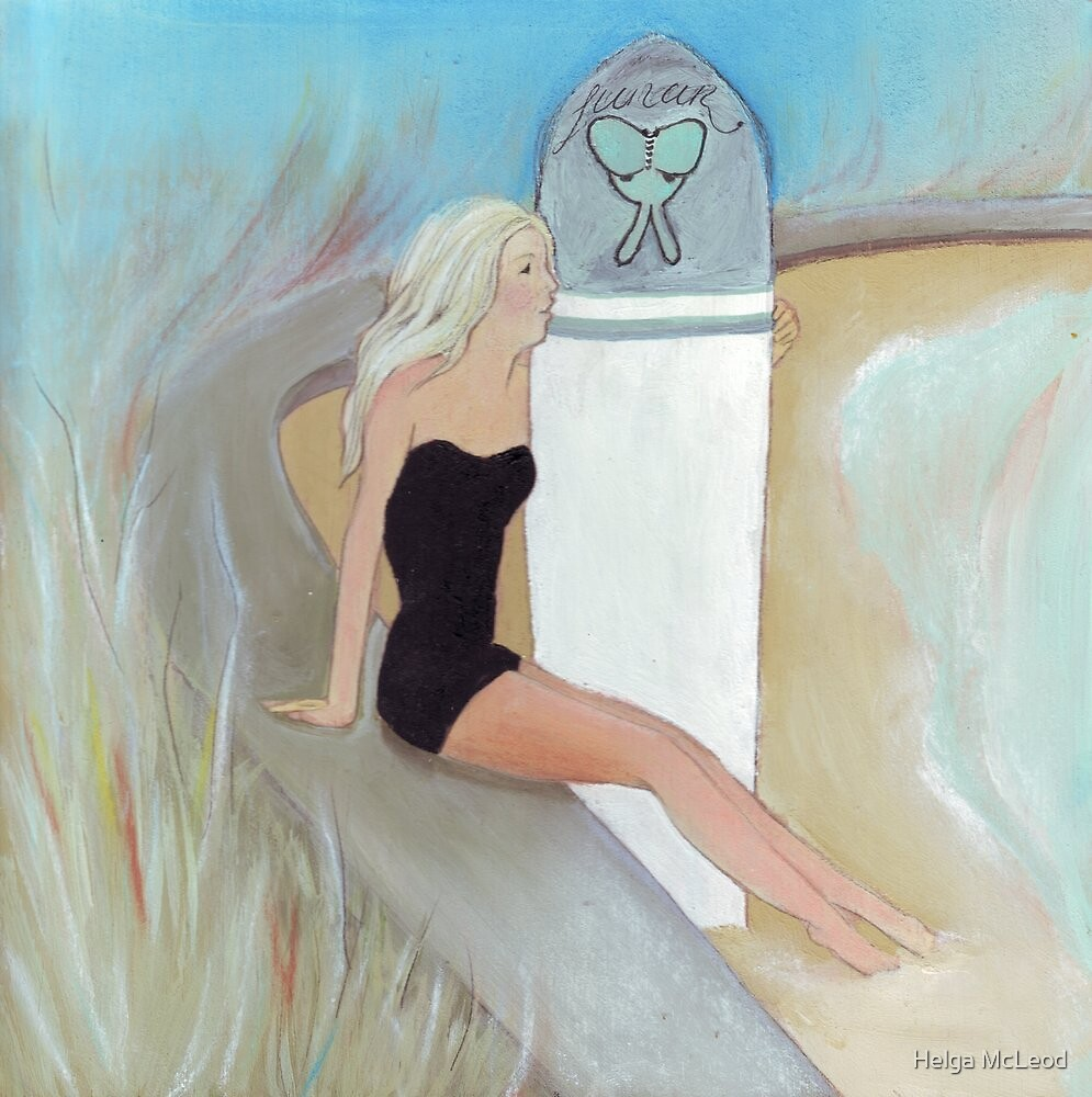 Surfing, summer, serotonin  by Helga McLeod