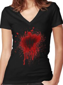 The Witcher 3 - Wild Hunt Blood Stain Women's Fitted V-Neck T-Shirt