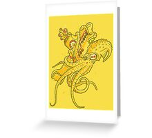 yellow Kracken Greeting Card