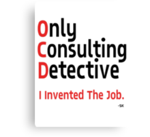 OnlyConsultantDetective. Canvas Print