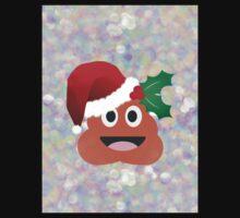 santa claus poop emoji Kids Tee