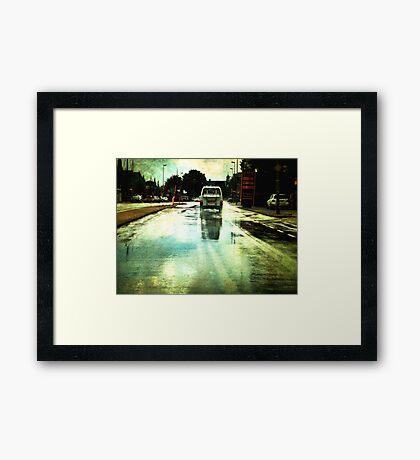 Once upon a Dutch rainy day Framed Print