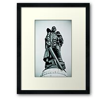 Treptower Park, Soviet war memorial. Framed Print