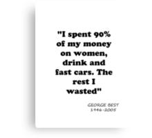 George Best Canvas Print