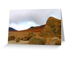 Martian landscape on earth Greeting Card