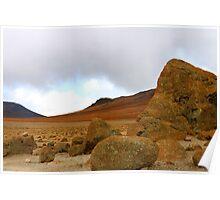 Martian landscape on earth Poster