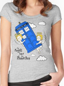 The Angels have the Phone Box - Version 2 (for light tees) Women's Fitted Scoop T-Shirt