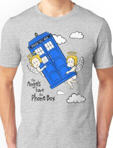 The Angels have the Phone Box - Version 2 (for light tees) Unisex T-Shirt