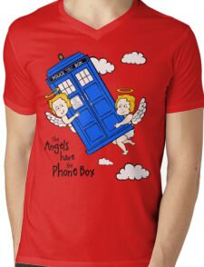 The Angels have the Phone Box - Version 2 (for light tees) Mens V-Neck T-Shirt