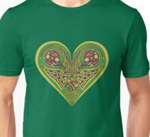 Celtic heart with birds and knotwork Unisex T-Shirt