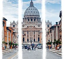 St Peter's, Rome (Triptych) by Stephen Knowles