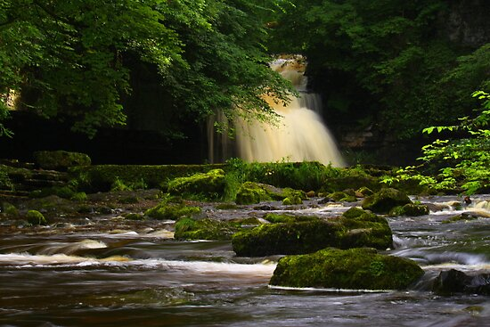 Cauldron Falls, Walden Beck, North England by Ian Alex Blease