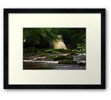 Cauldron Falls, Walden Beck, North England Framed Print
